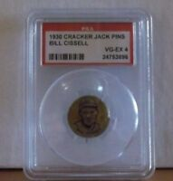 1930 CRACKER JACK PINS - BILL CISSELL  - PSA 4 VG-EX (INDIANS)