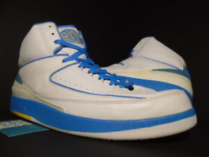 6ca28703132281 2004 NIKE AIR JORDAN II 2 RETRO CARMELO MELO ANTHONY WHITE BLUE ...