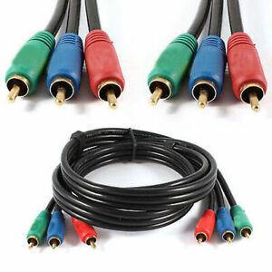 3m-Triplo-3-Fono-RCA-Maschio-Spina-a-Spina-Audio-Video-Composito-AV-TV-via-Cavo-UK
