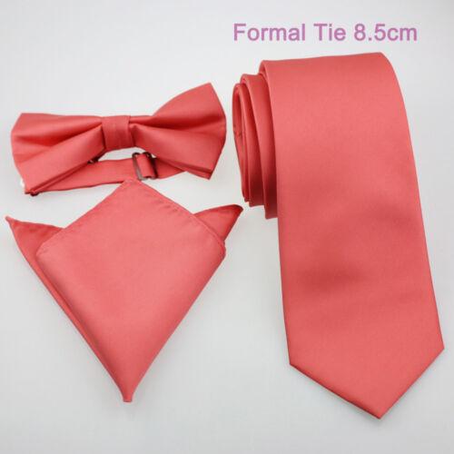 Coachella Ties Coral Pink Solid Color Necktie,Skinny Tie,Pocket Square,Bowtie..