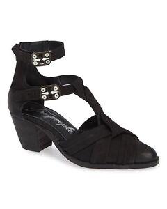 T-strap Block Heels Booties 41