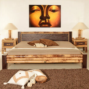 bambusbett 160x200 misool bettrahmen holzbett design bett doppelbett bettgestell ebay. Black Bedroom Furniture Sets. Home Design Ideas
