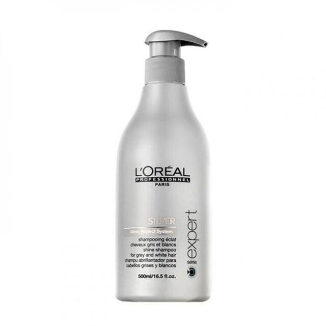 Loreal Professionnel  SILVER  SHAMPOO For White/Grey Hair 500ml + pump