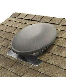 NIB-Home-Roof-Mount-1500-CFM-ATTIC-FAN-w-Thermostat-amp-Humidistat-Weatherwood