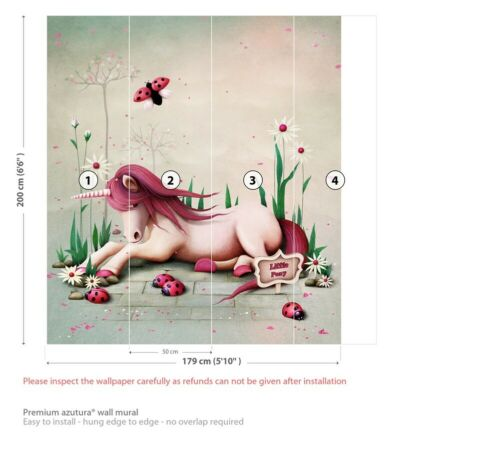 Pink Unicorn Wall Mural Wallpaper WS-42558