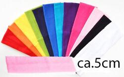 Stirnband Haarschmuck lycra stretch 5cm Bänder FARBWAHL sport 23-Farben