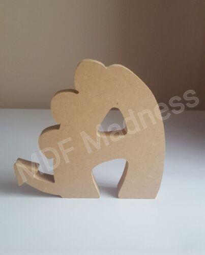 en bois Dinosaure lettre MDF CRAFT Forme 18 mm autoportante 15 cm Haute