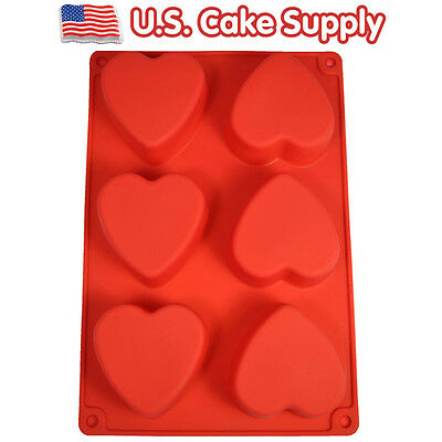 Mini Heart SILICONE BAKING MOLD Cake Decorating Pan Molding Brownies Valentine