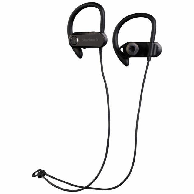 Blackweb Wireless Bluetooth Sport Earbuds Bwa18aa001 Black For Sale Online Ebay