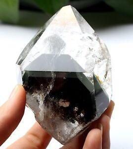 269.8g Natural Clear Green Pyramid Phantom Quartz Crystal Point Healing