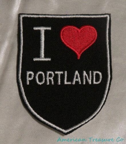 Embroidered Retro Vintage Style I Love Portland Oregon OR State Patch Iron On