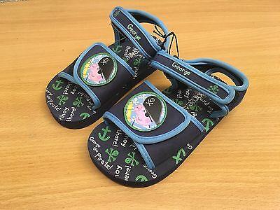 Zapatos de verano de playa Peppa Pig Niño Azul Talla 27 (9) NUEVO