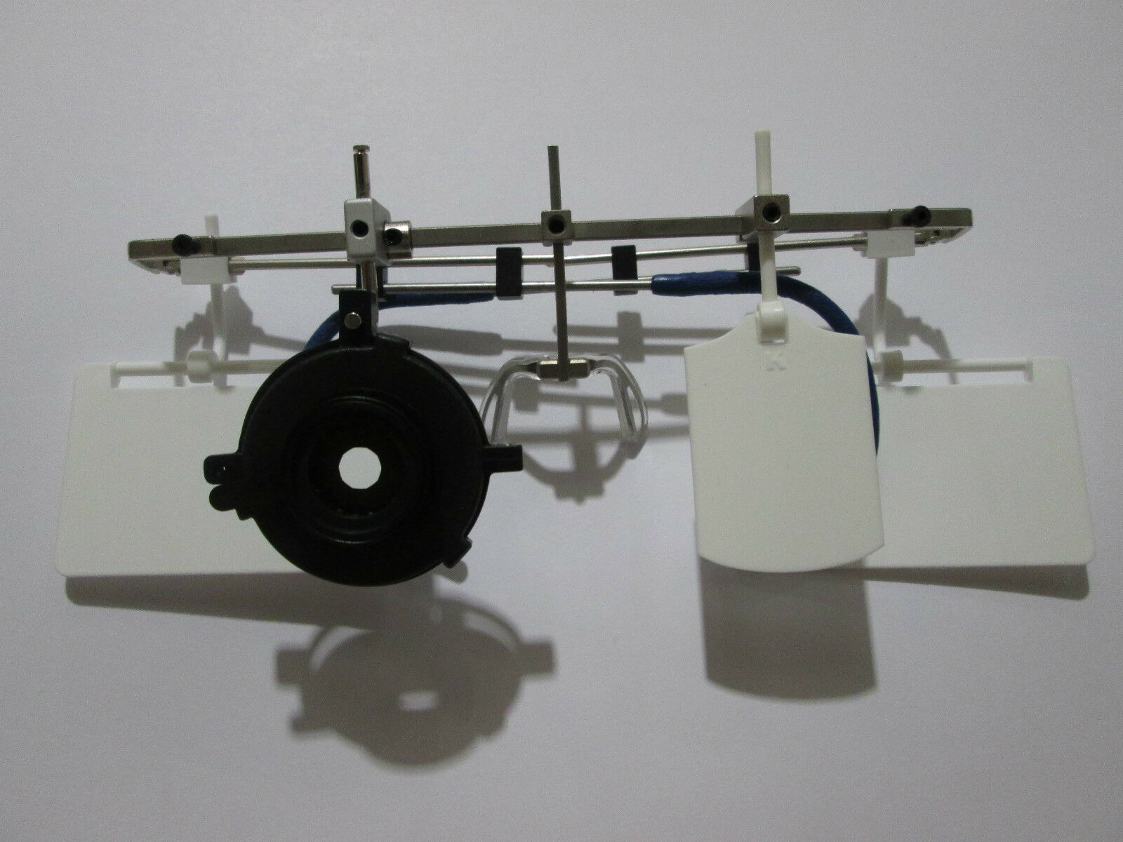 Gehmann Adjustable Shooting Glasses Frame 37mm Pistol w Iris and blinders WHITE