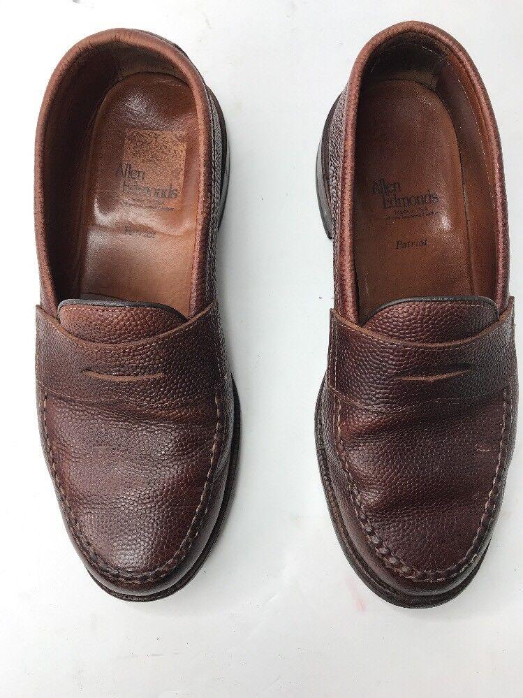 Allen Edmonds Mens patriot football grain leather dress shoes size 8.5 (L)