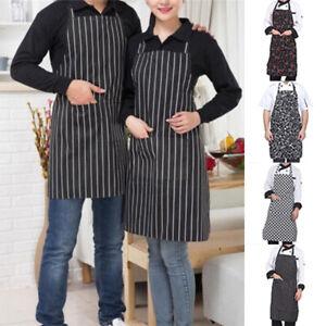 Men-Women-Apron-Cotton-Kitchen-Cooking-Chef-Baking-Craft-Bbq-Bib-Apron-Pocket