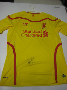 LIVERPOOL-PHILIPPE-COUTINHO-HAND-SIGNED-2014-15-AWAY-JERSEY-PHOTO-PROOF-C-O-A