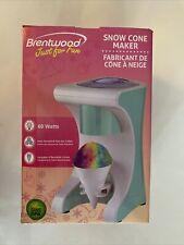 Brentwood Snow Cone Maker Ice Shaving Machine