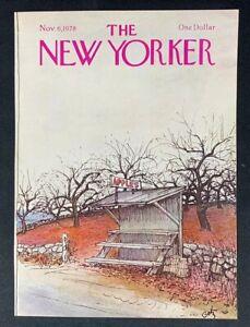 COVER-ONLY-The-New-Yorker-Magazine-November-6-1978-Arthur-Getz