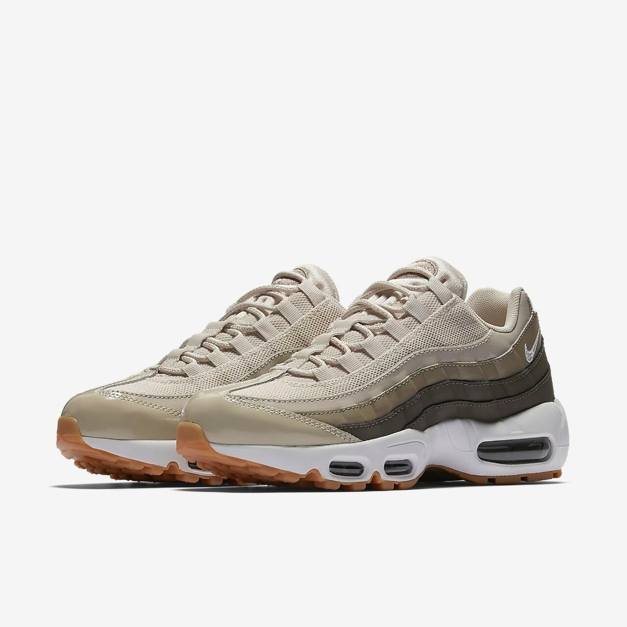 NIKE AIR MAX 95 OG 307960011 KHAKI GREY  WOMEN'S RUNNING SHOES 100% AUTHENTIC