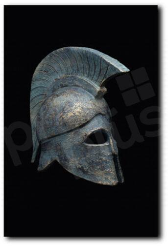 Spartan Military Helmet Canvas Art Poster Print Home Wall Decor