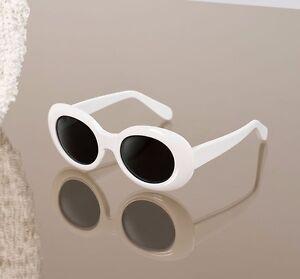 image is loading kurt cobain white oval frame sunglasses nirvana vintage - White Frame Glasses