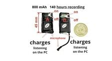 SPY Mini Voice Recorder KS-140 ,8GB , 140 hours recording