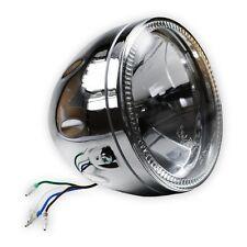 5 3/4 Zoll (14cm) Klarglas Scheinwerfer chrom, H4 mit LED-Standlicht, headlight