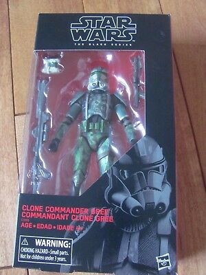 ACTION FIGURE NEW Star Wars The Black Series Clone Commander Gree 6 in environ 15.24 cm