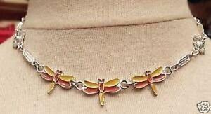 Collier-Libellule-couleur-argent-bijou-vintage-70-039-sans-nickel-necklace-3857