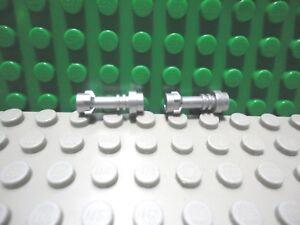 Lego Mini Figure 2 Metallic Silver Lightsaber Hilts Weapon Star Wars
