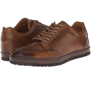 Mezlan-034-Frankfurt-034-Low-Top-Leather-Sneaker-Men-039-s-Lace-up-Shoes-Cognac-8-13US