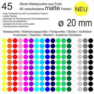 rot Papier ablösbar Markierungspunkte DIN A4 Bogen 300 Klebepunkte 60 mm