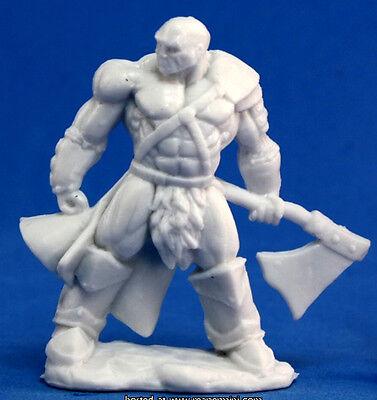 1 x GOLDAR BARBARE - BONES REAPER figurine miniature barbarian pathfinder 77047