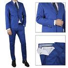 Vestito Da Uomo blu Navy Elegante Slim Fit Abito cerimonia Sartoriale Casual