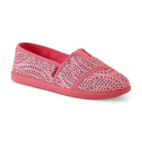 Joe Boxer Youth Girl/'s Bronx Pink Sequin Slip-On Slipper//Shoe Sizes 3-5