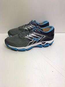 Mizuno-Wave-Horizon-2-Sneaker-Women-039-s-Sz-7-D-Gray-Blue-EU-37-Running-Training