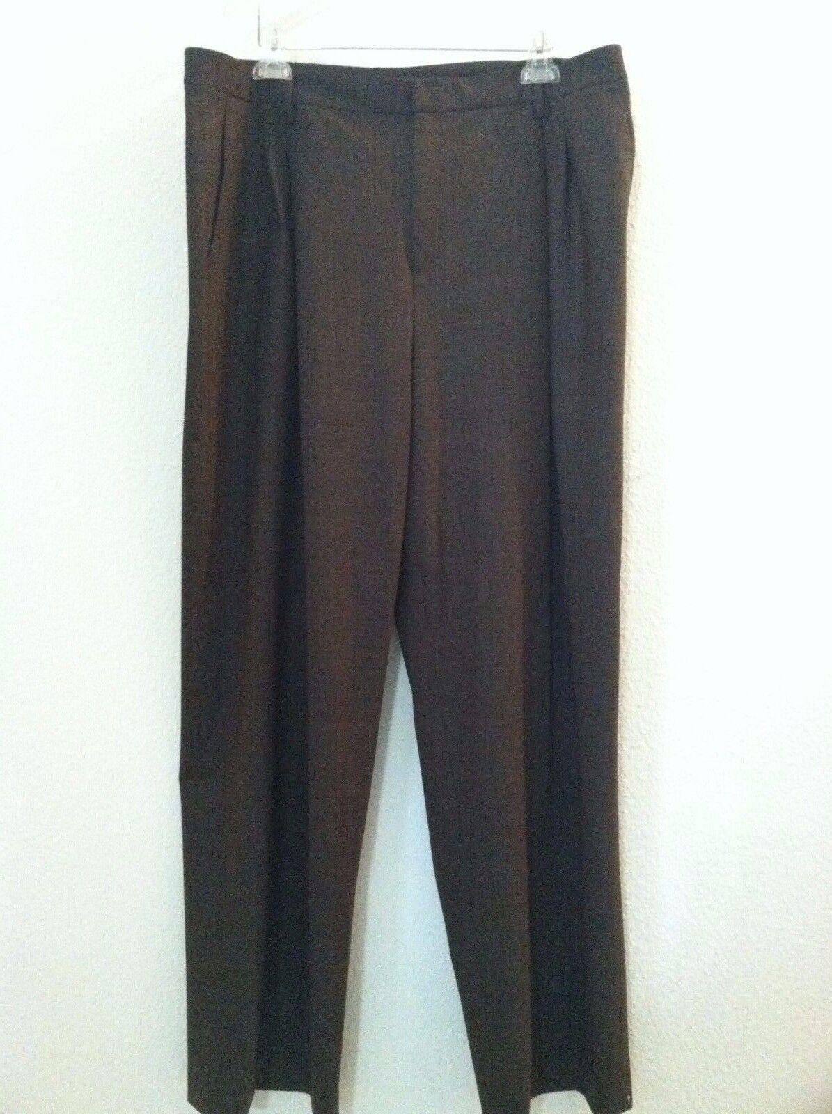 New Linda Allard Ellen Tracy 18 pant brown dress career work sz  245