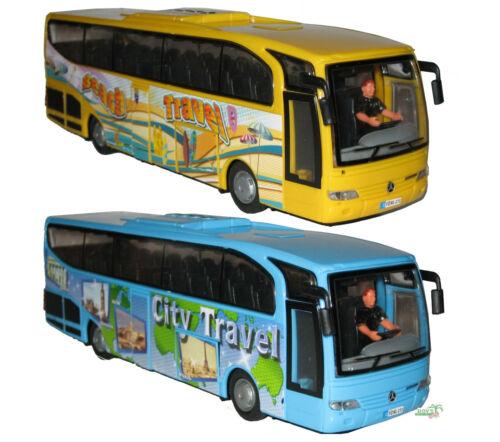 DICKIE Toys 203825000 Kids Mate Mercedes-Benz Travego Bus Reisebus mit Friction