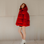 Womens-Red-Puffer-Oversized-Short-Coat-Hooded-Down-Cotton-Coat-Thicken-Warm-New thumbnail 2