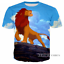 Women//Men The Lion King Animal Design 3D Print Casual T-Shirt Short Sleeve Tops