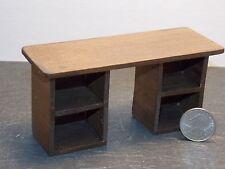 Dollhouse Miniature Dark Walnut Office Desk 1:12 inch scale K13 Dollys Gallery