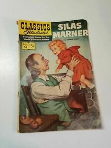 Silas Marner Comic Book Classics Illustrated  Linen Weaver Cottage England Story