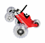 thumbnail 1 - Turbo Tumbler Car Red RC Remote Controlled Toy Monster 360 Spinning 27MHz