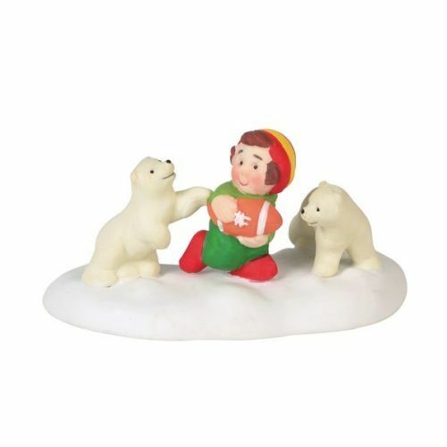 Dept 56 North Pole Village New 2018  BEAR DOWN AND GO 6000624 Coord BOUNCY/'S