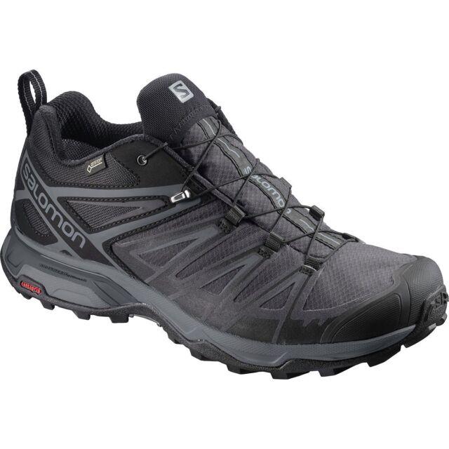 Salomon Men's X Ultra 3 GTX Waterproof Hiking Trail Shoes BlackMagnet