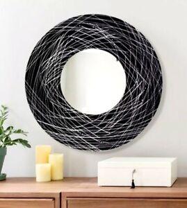 Metal Wall Mirror Art Ultra Modern Black Silver Decor Signed Original Jon Allen 718117183447 Ebay