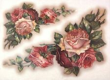 Ricepaper per Decoupage Decopatch Scrapbook Craft sheet a/3 vintage dipinto rose