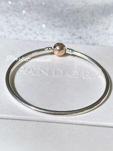 Auténtica Pandora broche encanto colgante rosa dorado con caja de ...