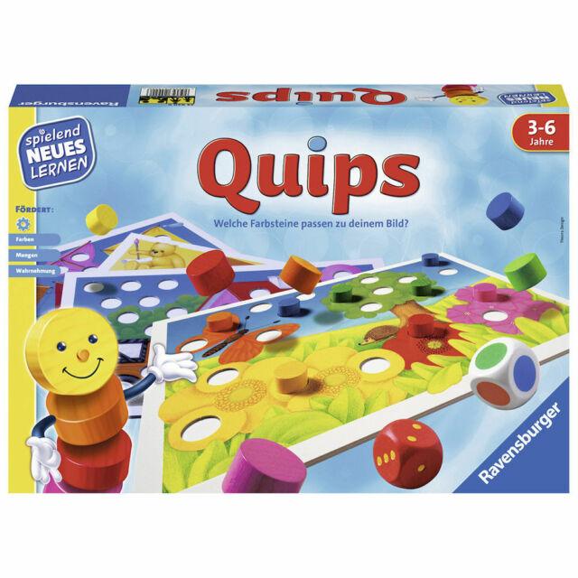 RAVENSBURGER Kinderspiel Quips Lernspiel Suchspiel Farbwürfelspiel Zuordnung