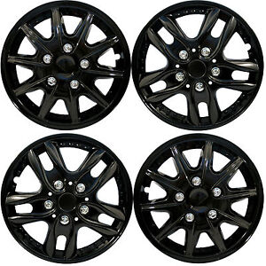 4-X-BLACK-UNIVERSAL-CAR-VAN-WHEEL-TRIMS-COVERS-HUB-CAPS-SET-13-034-14-034-15-034-NEW-4PCS